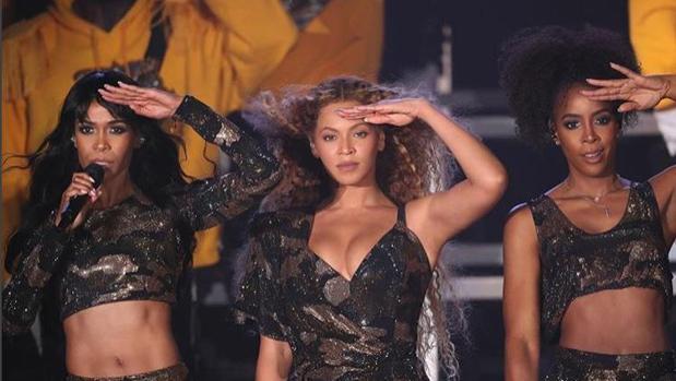 La cantante Beyonce durante un concierto