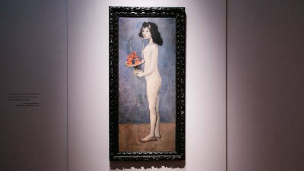 La pintura de Picasso «Fillette a la corbeille fleurie»