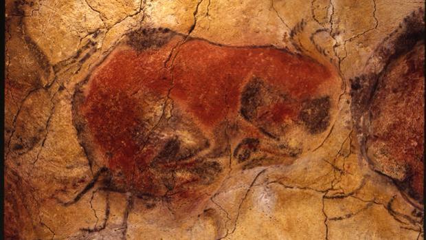 Una de las pinturas de las Cuevas de Altamira