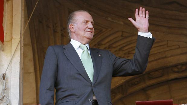 El Rey Juan Carlos, en la corrida del Corpus de Sevilla del año 2008
