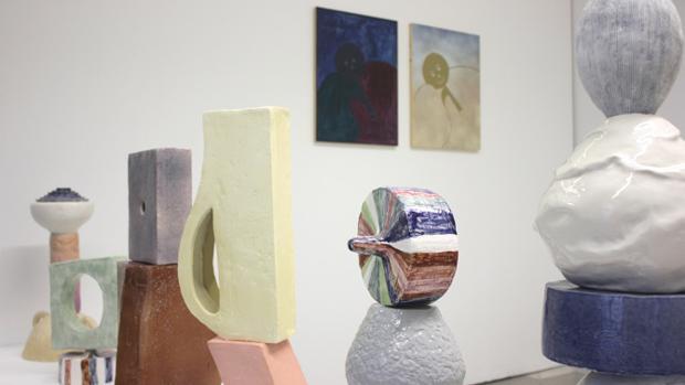 Algunas piezas de la exposición «Symballein»