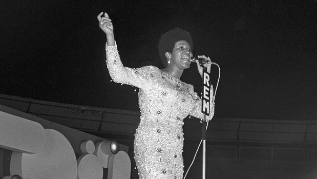 Aretha Franklin, en el Festival Español de la Canción de Benidorm en 1970