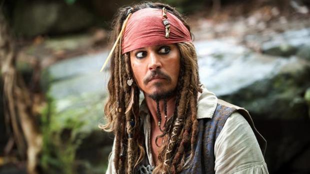 Johnny Depp en su papel de Jack Sparrow en «Piratas del Caribe»