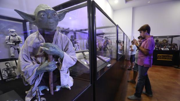 El maestro Yoda, uno de los protagonistas de la muestra.
