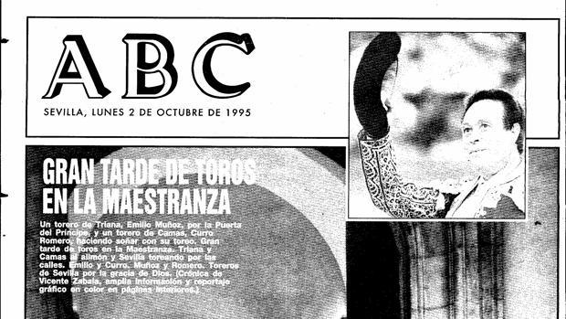 Portada de ABC de Sevilla del 2 de octubre de 1995