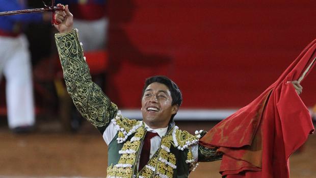 Sergio Flores, en la Monumental de Insurgentes