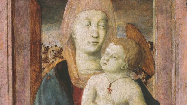 «Virgen con Niño», de Piero della Francesca. Detalle