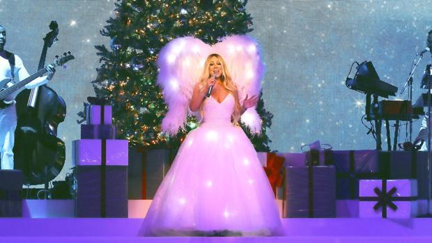 Mariah Carey, durante el concierto de esta noche en el Palacio de los Deportes de la Comunidad de Madrid