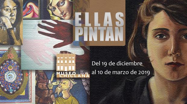 Cartel de la exposición Ellas Pintan, que puede disfrutarse en el Museo de Chiclana