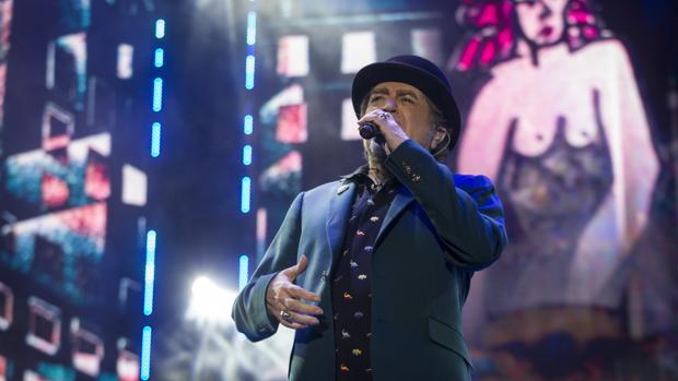 Joaquín Sabina, en un concierto celebrado en Madrid en junio de 2018