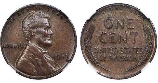 Moneda de bronce de 1943