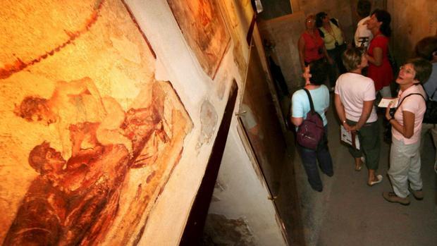 Frescos eróticos en el Lupanar de Pompeya