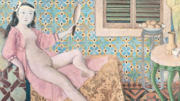 «La habitación turca» (1965-66), de Balthus. Detalle