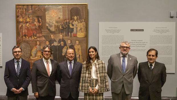 De izquierda a derecha, Andrés Úbeda, Pedro Pablo Alayza Tijero, Claudio de la Puente Ribeiro, Alessandra de Osma, Miguel Falomir y Alonso Ruiz-Rosas