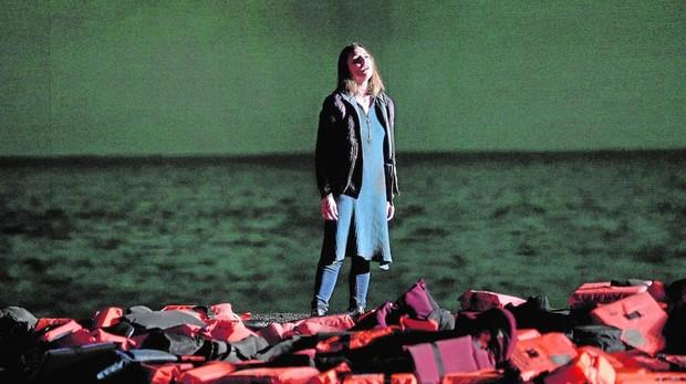 Annet Fritsch, en una escena de «Idomeneo»