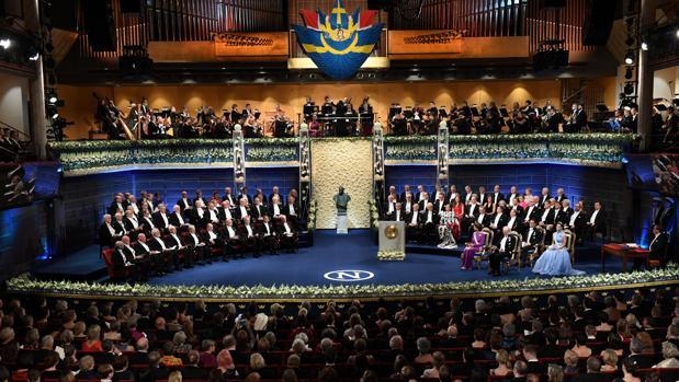 Ceremonia de entrega de los premios Nobel en 2017, año en el que Kazuo Ishiguro ganó el de Literatura