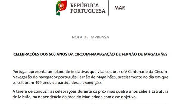 El embajador dice que Portugal no ha querido ocultar a Elcano