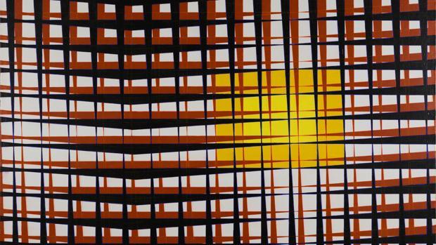 Una de las obras del pintor argentino