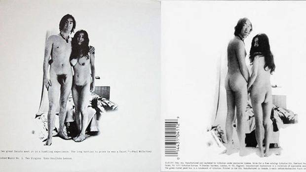 POrtada y contraportada de «Two Virgins»