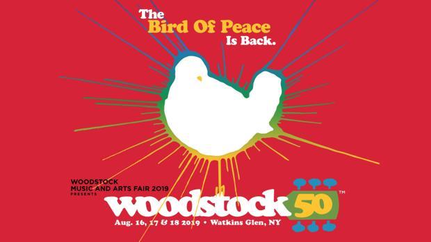 Cartel de Woodstock 50