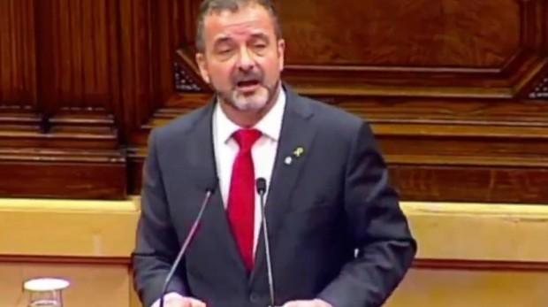 Alfred Bosch durante su intervención en el Parlament