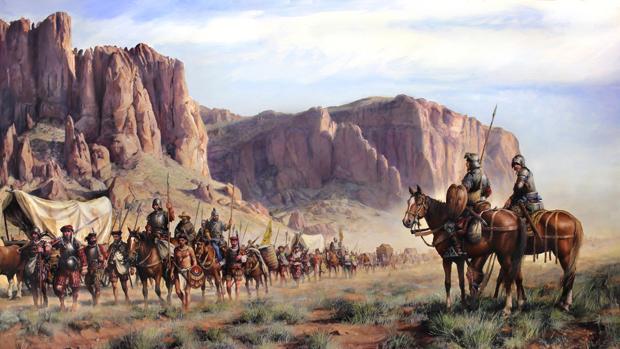 «La expedición de Coronado», por Augusto Ferrer-Dalmau