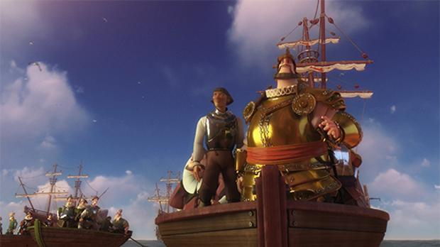 Fotograma de la película de Elcano y Magallanes.