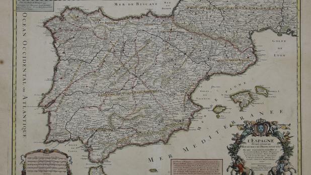 El primer mapa de las rutas del correo en España