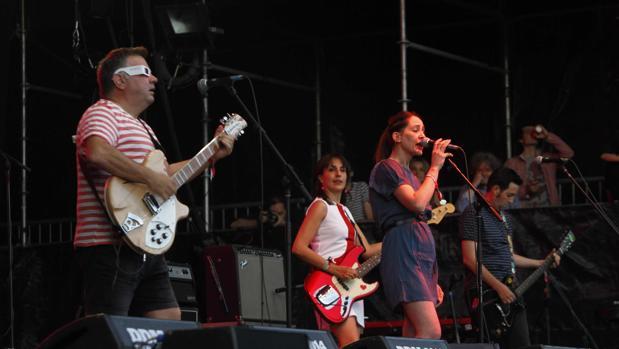 Los Fresones Rebeldes durante un concierto en 2014