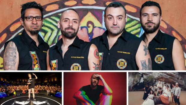 Imágenes de los artistas que cierran el cartel del festival Cabo de Plata.