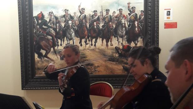 Concierto inaugural de la exposición ante «La degollá», de Augusto Ferrer-Dalmau