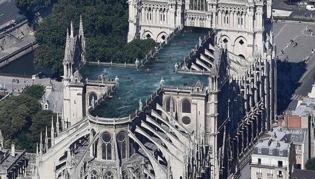Imagen virtual de la reconstrucción de Notre Dame por parte del estudio Ulf Mejergren Architects