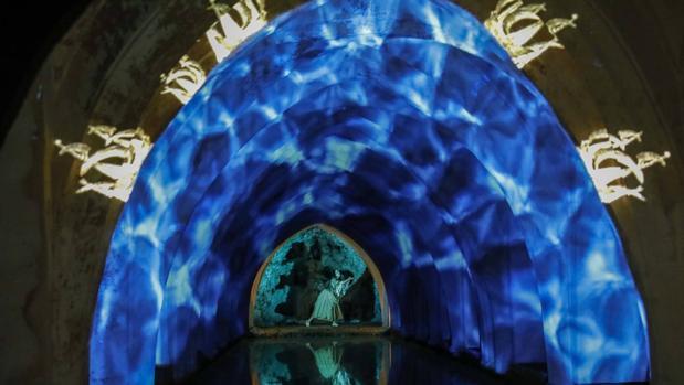 Una de las imágenes del montaje en el Alcázar