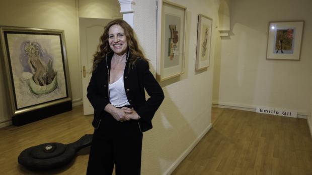 Julieta de Haro en las estancias de la Feria de Primavera del Tercero de Velázquez
