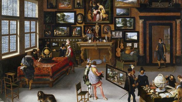 Detalle de «Las Ciencias y las Artes» de Adriaen van Stalbent, de la colección del Museo del Prado