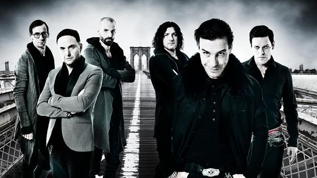 La banda alemana de metal Rammstein al completo