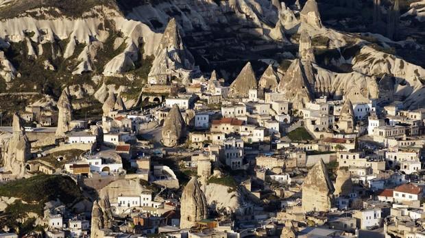 Vistas aéreas de la región de Capadocia