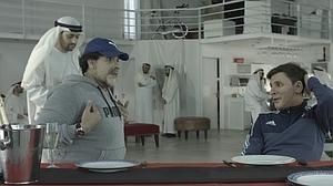 Maradona y Messi, recreados por Martín Bossi