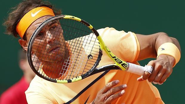 Rafael Nadal, en el entrenamiento del martes en Barcelona