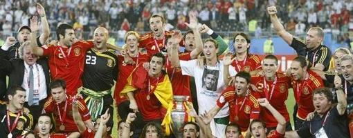 España rompió el maleficio en 2008, durante la Eurocopa de Austria y Suiza