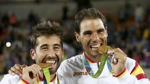 Rafa Nadal y Marc López, más que amigos