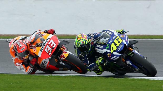 MotoGP:  Vuelven a saltar chispas en el duelo entre Rossi y Márquez
