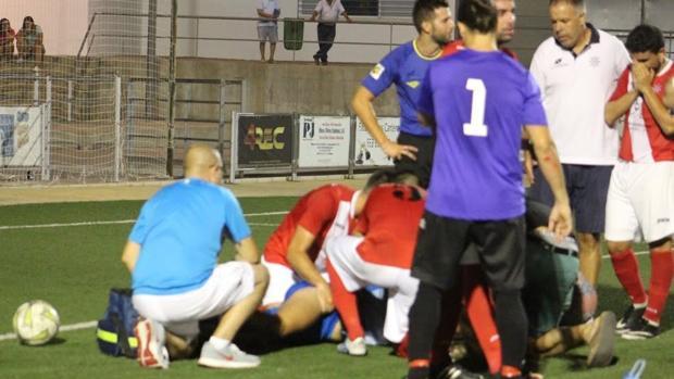 Daniel García consiguió abrir vlas ías respiratorias del jugador