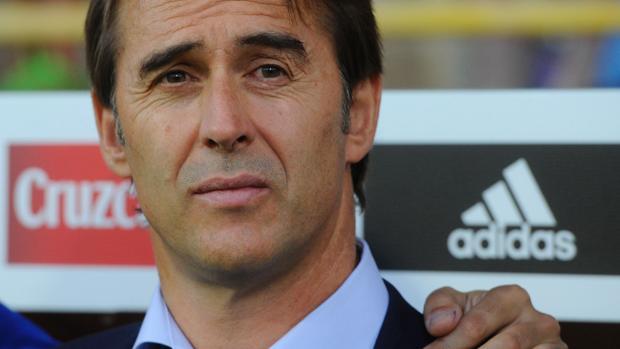 Lopetegui, durante el encuentro de España contra Liechtenstein