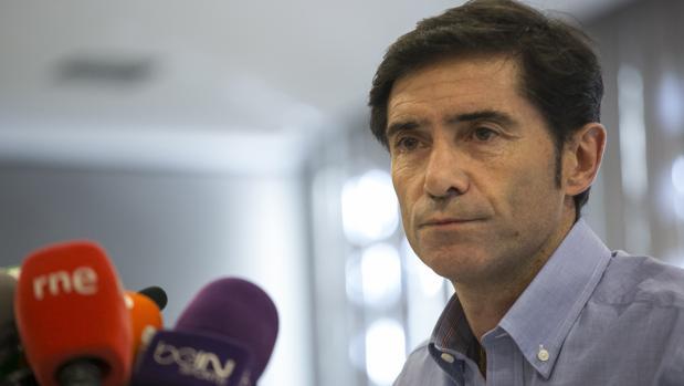 Marcelino, durante su comparecencia en el hotel Eurobuilding