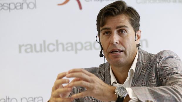 Raúl Chapado, durante el acto en la mañana de este miércoles en GoFit Vallehermoso