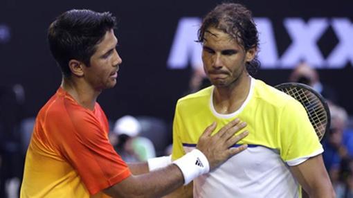 Nadal, cariacontecido tras caer ante Verdasco en primera ronda del Open de Australia