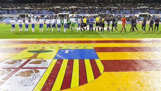 Imagen del partido que disputaron Zaragoza y Huesca el pasado domingo