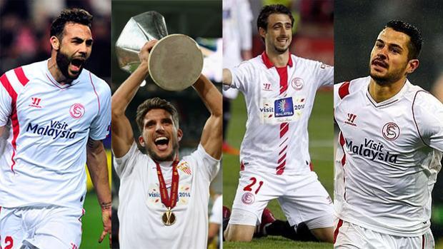 Iborra, Carriço, Pareja y Vitolo, capitanes del Sevilla FC 2016-17
