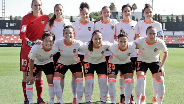 Formación inicial del Valencia en la primera jornada de Liga